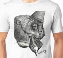 cyborg undead sad Bird Brain Parrot machine drawing Unisex T-Shirt