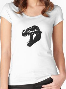 T-Rex Skull Women's Fitted Scoop T-Shirt