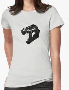 T-Rex Skull Womens Fitted T-Shirt