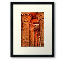 Egypt. Temple of Kom Ombo. Colonnade. Framed Print