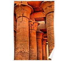 Egypt. Temple of Kom Ombo. Colonnade. Poster