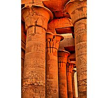 Egypt. Temple of Kom Ombo. Colonnade. Photographic Print