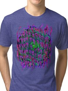 Vortex to hell Purple and green and red Tri-blend T-Shirt