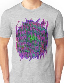 Vortex to hell Purple and green and red Unisex T-Shirt