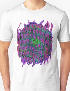 Vortex to hell Purple and green and red T-Shirt