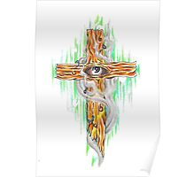 tattoo cross Poster