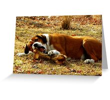 Giv'a Dog A Bone?  Now THATS What Ya Call A Bone!!! Greeting Card