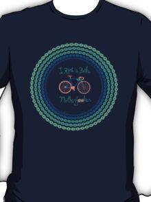 I ride a bike! (Blue Version) T-Shirt