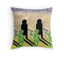 Firing squad Throw Pillow