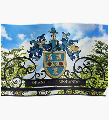 Rugby school coat of arms Poster
