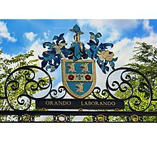 Rugby school coat of arms Photographic Print