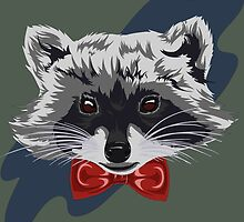 Red Bowtie Raccoon by Akuma91