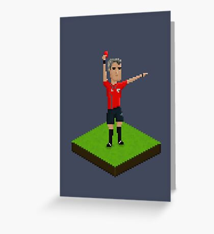 Red Card Greeting Card