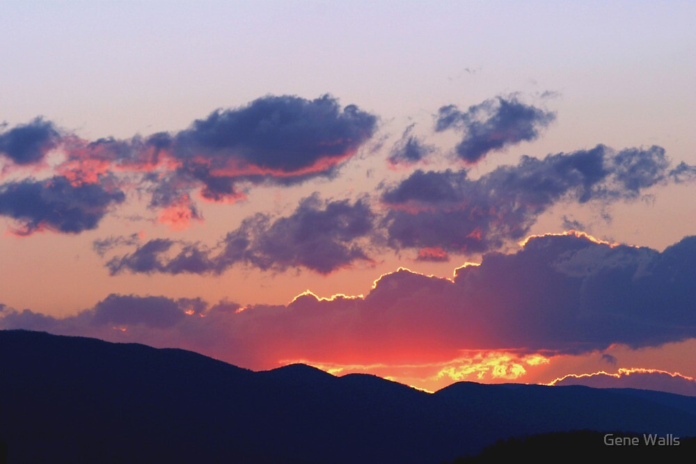 Glowing Sunset Clouds After The Storm by Gene Walls
