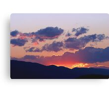 Glowing Sunset Clouds After The Storm Canvas Print