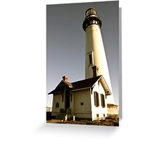 Light House at Pigeon Point Greeting Card