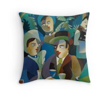 THE DINERS Throw Pillow