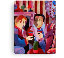 FIRESIDE CHAT Canvas Print