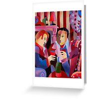 FIRESIDE CHAT Greeting Card