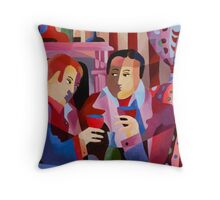 FIRESIDE CHAT Throw Pillow