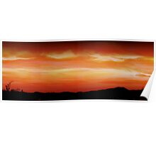 Farmers Field Sunset Panoramic Poster
