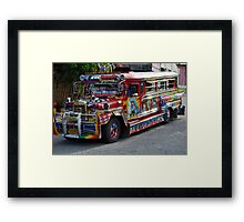 The Philippine Jeepney Framed Print