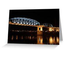 Pedestrian Bridge in Nashville Greeting Card