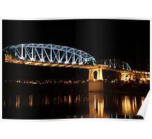 Pedestrian Bridge in Nashville Poster
