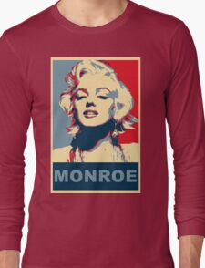 Marilyn Monroe Pop Art Campaign  Long Sleeve T-Shirt
