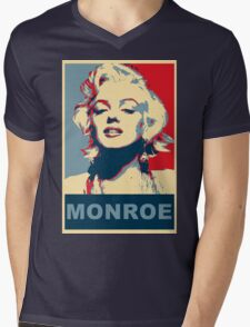 Marilyn Monroe Pop Art Campaign  Mens V-Neck T-Shirt