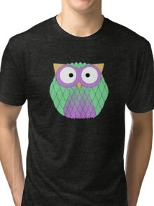 Fat owl wants to be a parrot Tri-blend T-Shirt