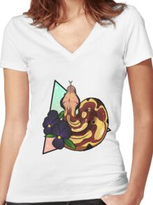 Magical Blood Python Women's Fitted V-Neck T-Shirt