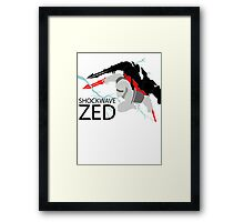 Shockwave Zed Framed Print