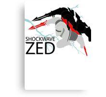 Shockwave Zed Canvas Print