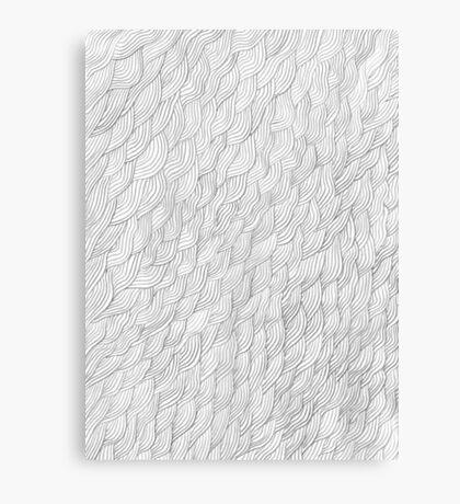 Grayscale Pencil Doodle Waves Canvas Print