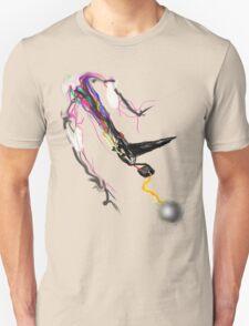 Motorized TV Bird Shooting Lightning with rainbow fire tail T-Shirt