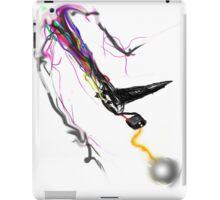 Motorized TV Bird Shooting Lightning with rainbow fire tail iPad Case/Skin