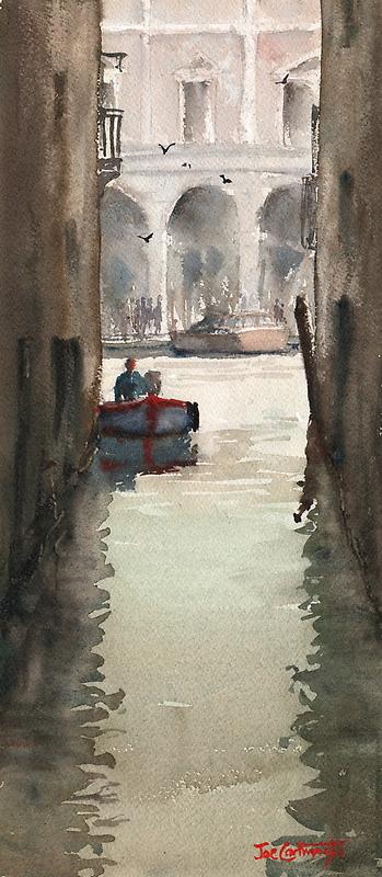 Venice Canal near Rialto Bridge by Joe Cartwright