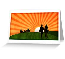 A Walk Towards Forever Greeting Card