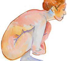 crouching nude by Loui  Jover