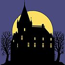 Creepy Castle in Silhouette by Richard Fay