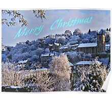 Ironbridge Village Winter Scene Poster