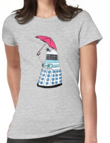 Pink Umbrella Womens Fitted T-Shirt