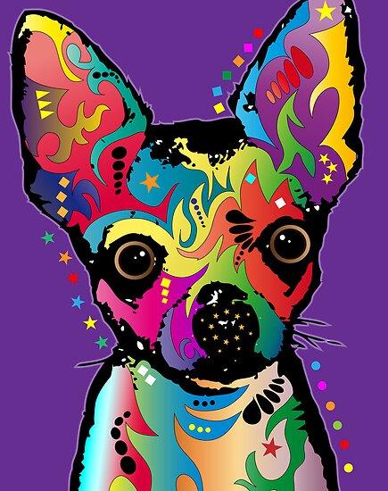 Chihuahua Art by Michael Tompsett