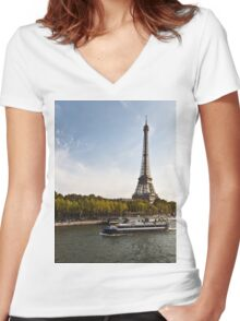 Trip in Paris Women's Fitted V-Neck T-Shirt