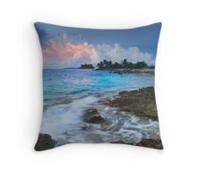 Storm Clouds in Red - Cocos (Keeling) Islands Throw Pillow
