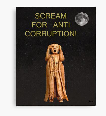 Scream For Anti Corruption Canvas Print