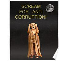 Scream For Anti Corruption Poster