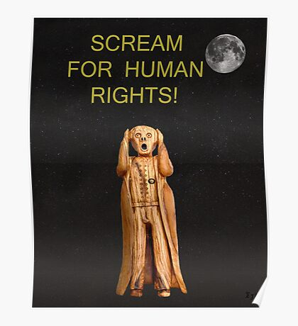 Scream For Human Rights Poster