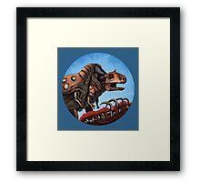Dinosaur Cannibalism Framed Print